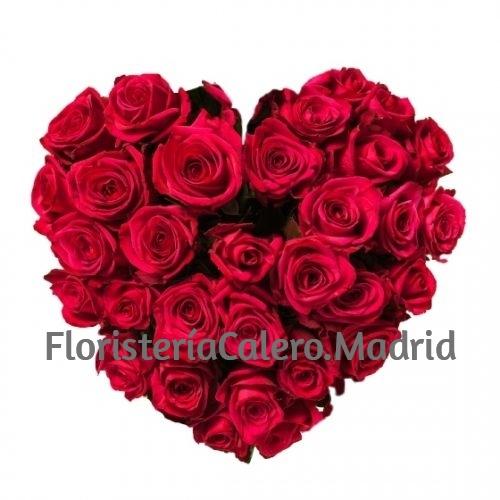 Corazón Funerario 36 Rosas